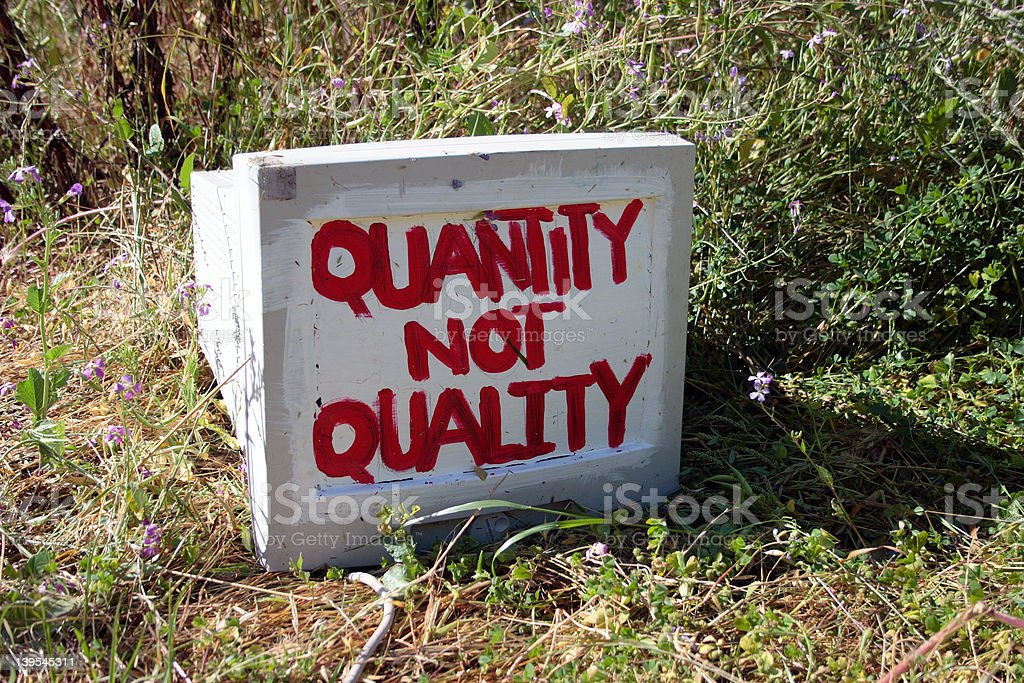 Quantity Not Quality royalty-free stock photo