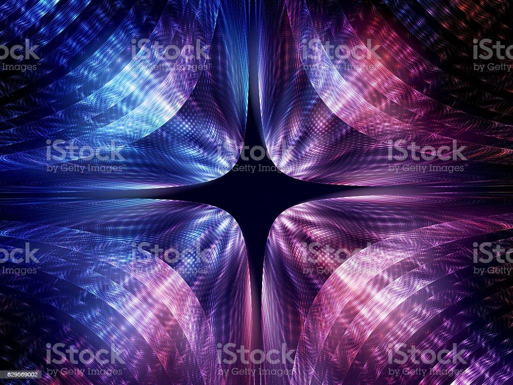 Quantum mechanics wave attribution stock photo
