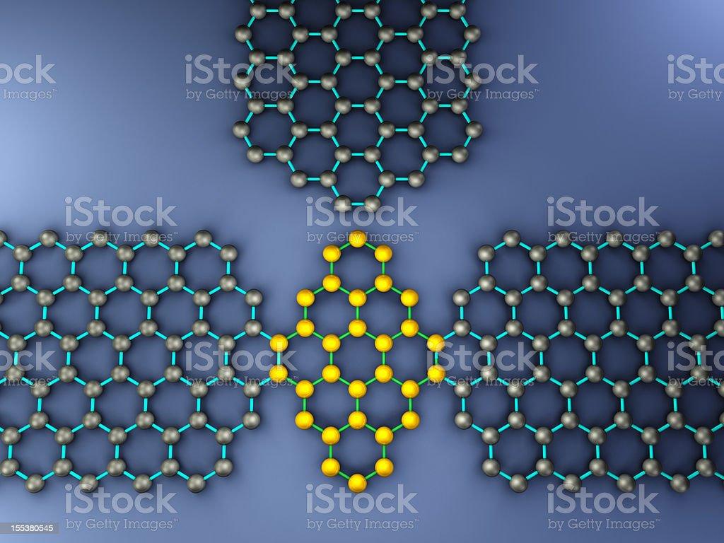 Quantum-Dot Graphene Transistor stock photo