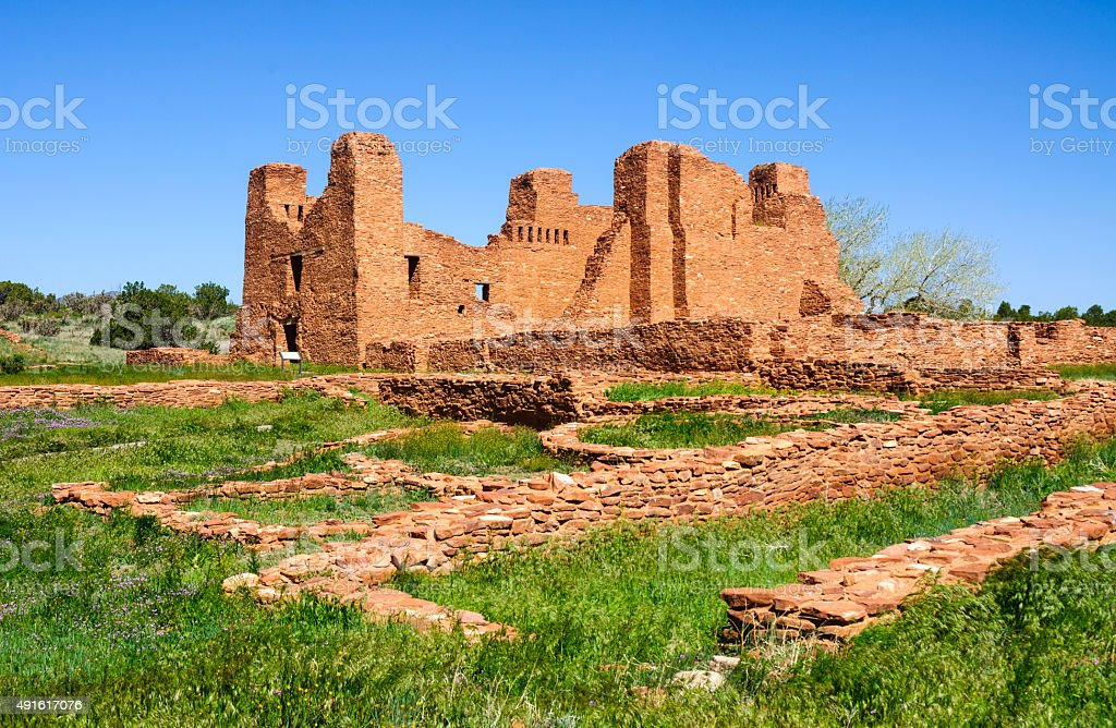 Quarai Ruins in Salinas Pueblo Missions National Monument stock photo