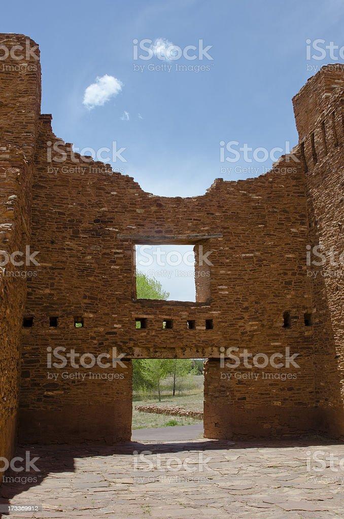 Quarai Ruins of Salinas Pueblo Missions National Monument stock photo