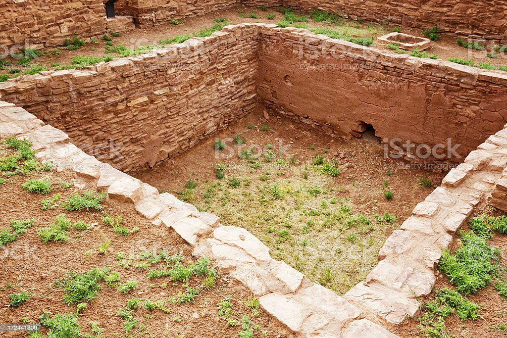 Quarai Ruins - Salinas Pueblo Missions National Monument stock photo