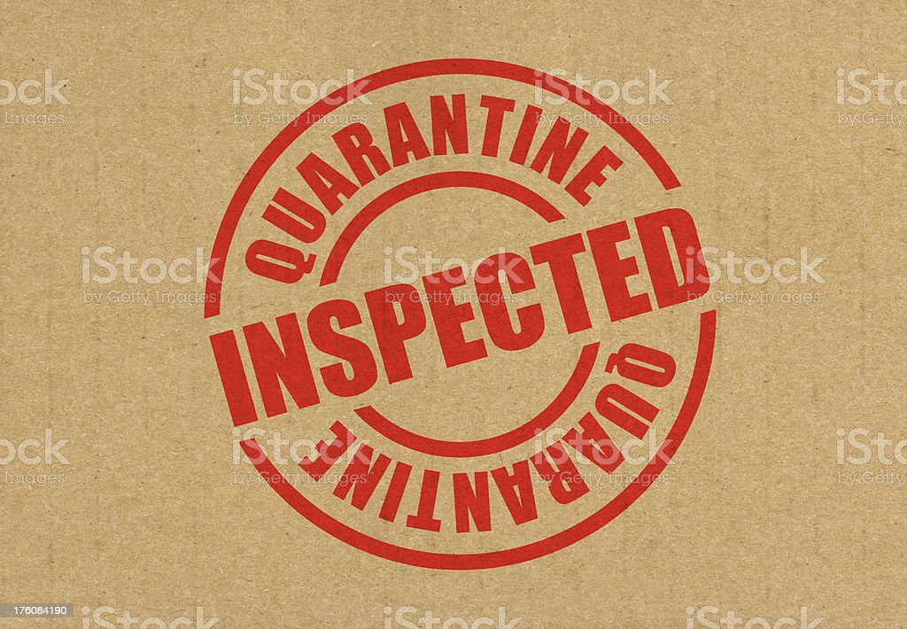 Quarantine Inspected royalty-free stock photo