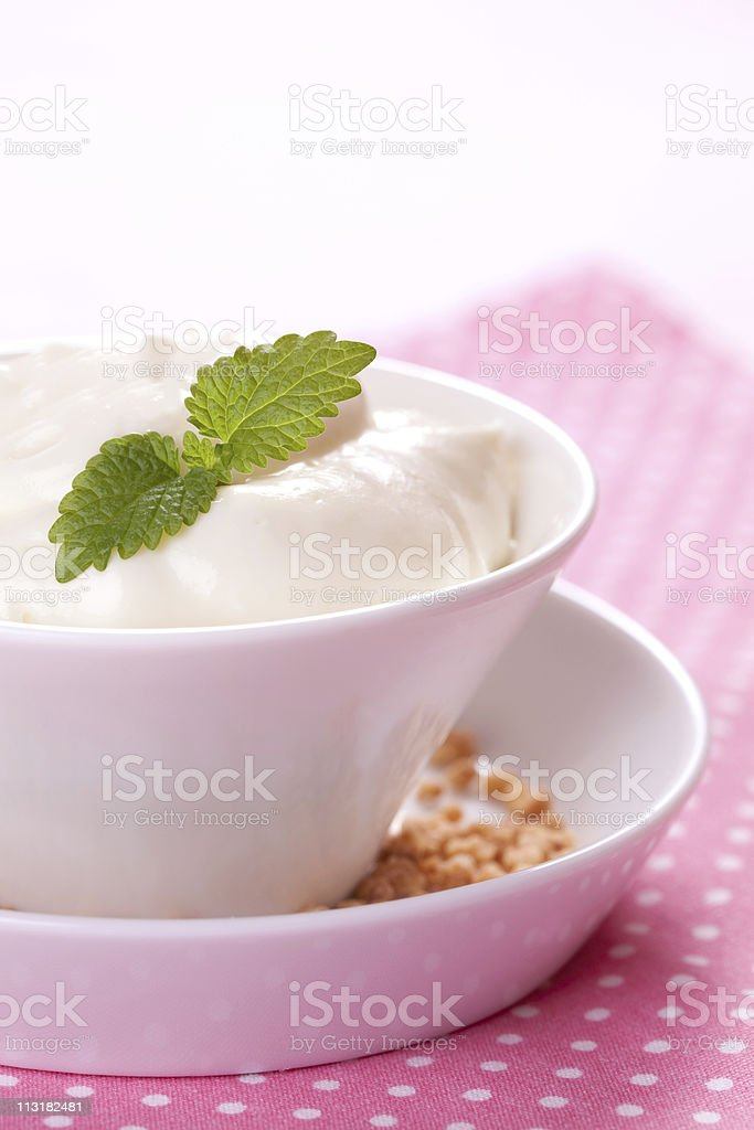 quark with mint royalty-free stock photo