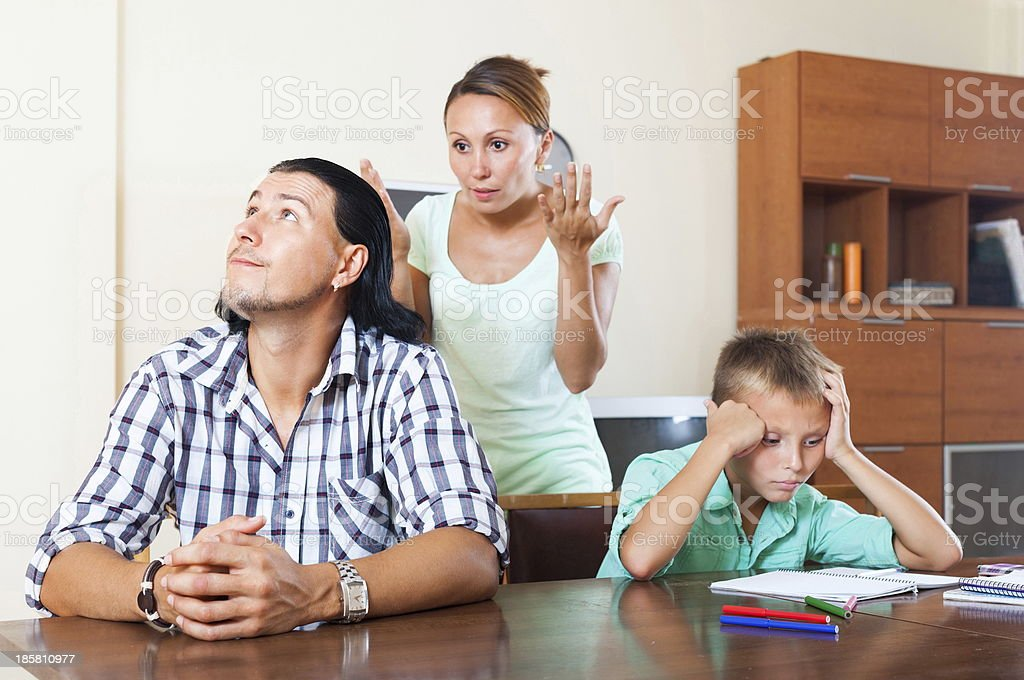 Quarrel at home royalty-free stock photo