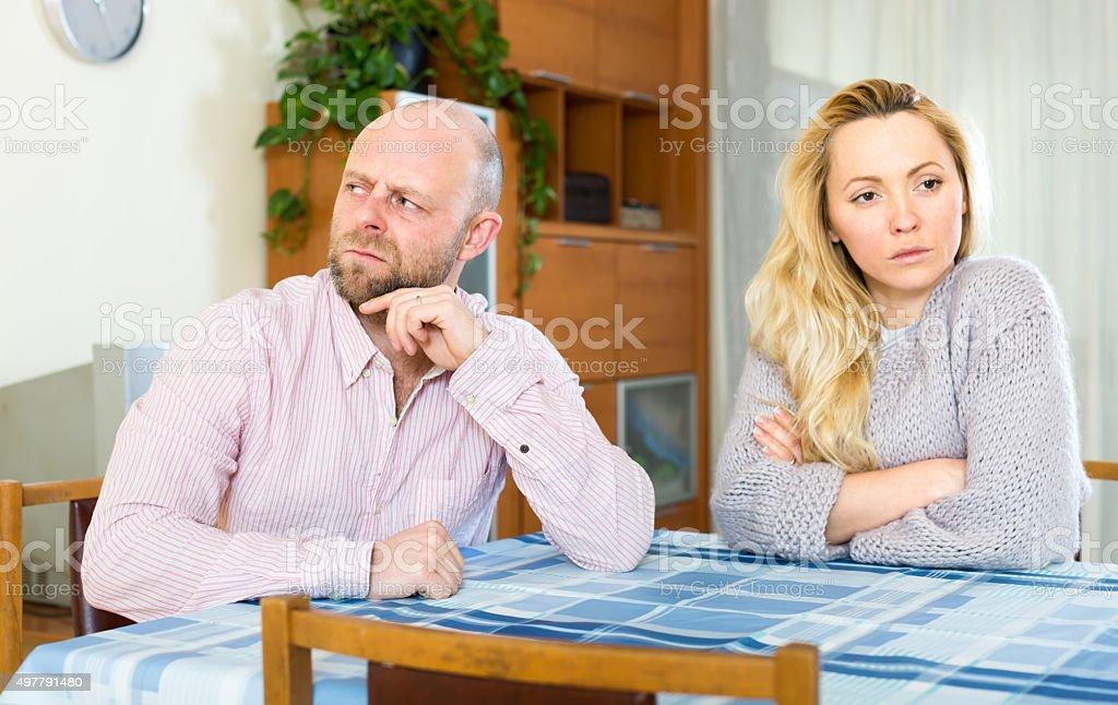 Quarrel in a couple stock photo