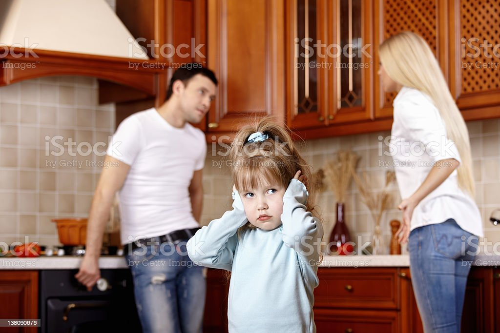 Quarrel of parents royalty-free stock photo
