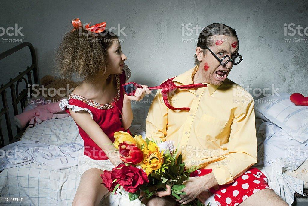 Quarrel of spouses royalty-free stock photo