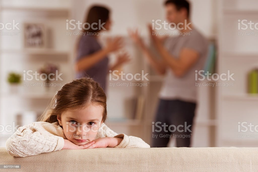 Quarrels upset child stock photo