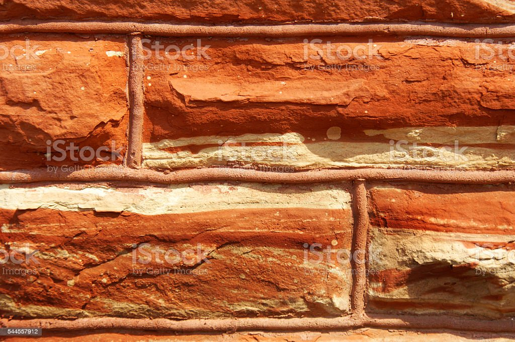 Quarried Red Sandstone stock photo