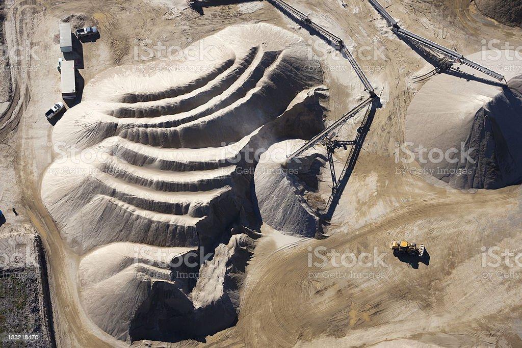 Quarry Aerial Photo royalty-free stock photo