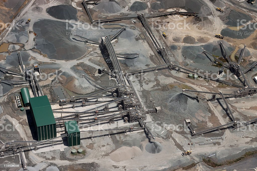 Quarry Aerial View royalty-free stock photo