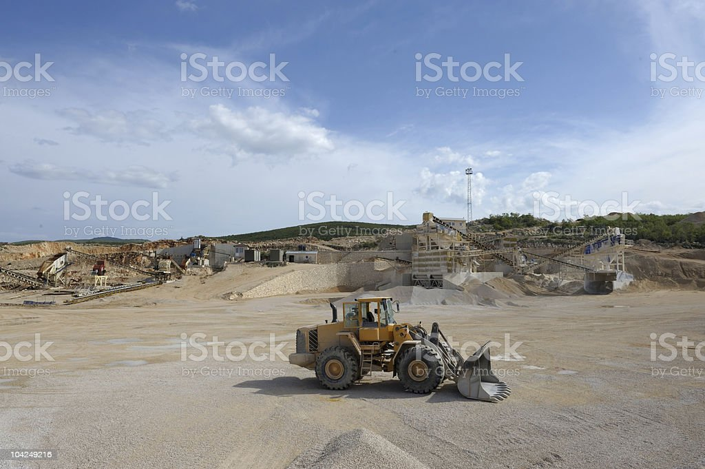 Quarry and Loader stock photo