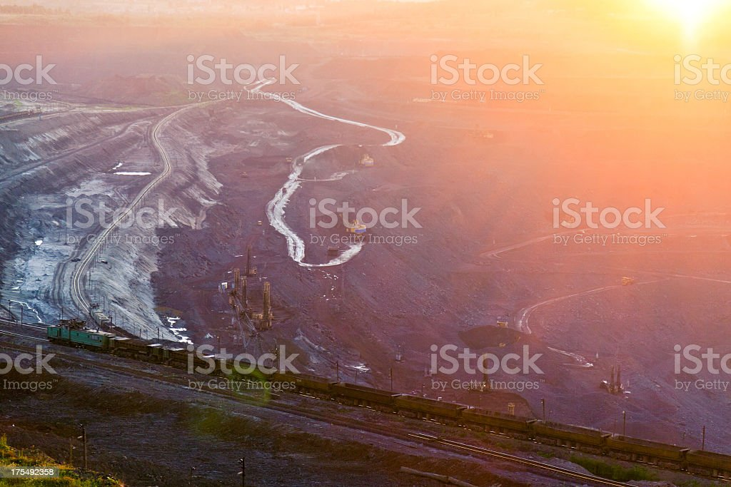 Quarry at dawn royalty-free stock photo