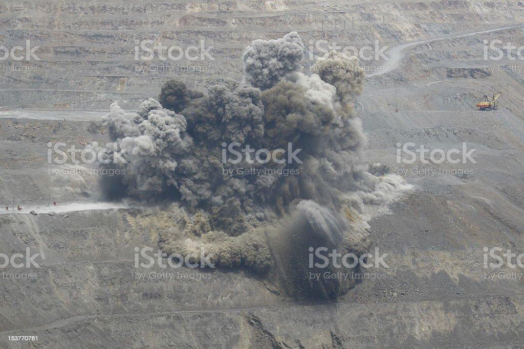 Quarry Blast royalty-free stock photo