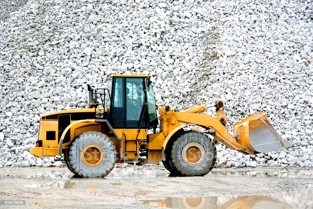Quarry Bulldozer stock photo
