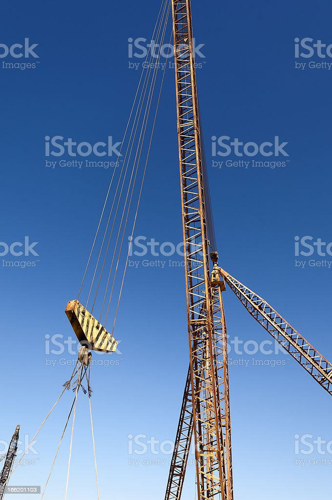 Quarry crane royalty-free stock photo