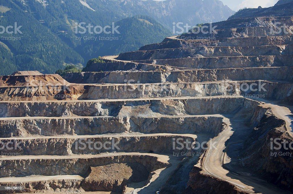 quarry extracting iron stock photo