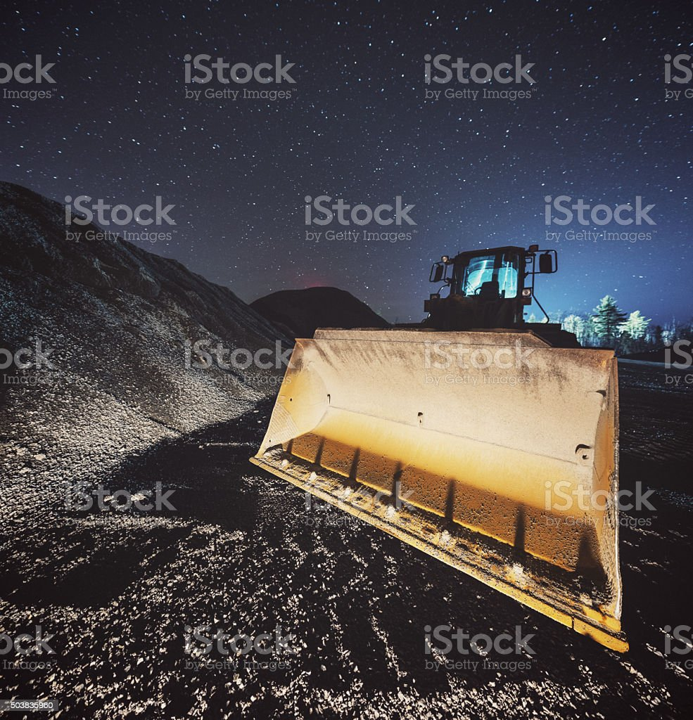 Quarry in the Stars stock photo