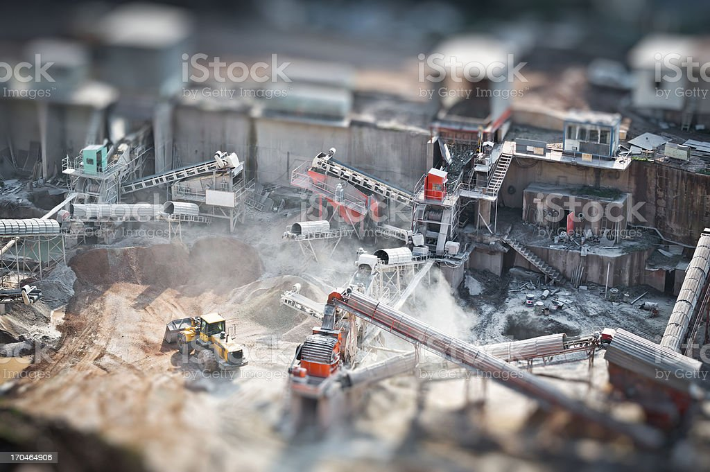 Quarry Industry royalty-free stock photo