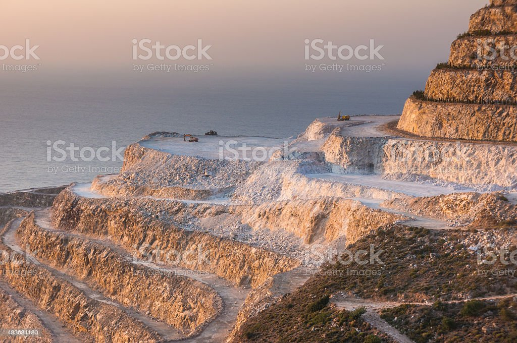 quarry inert materials, for the construction industry stock photo