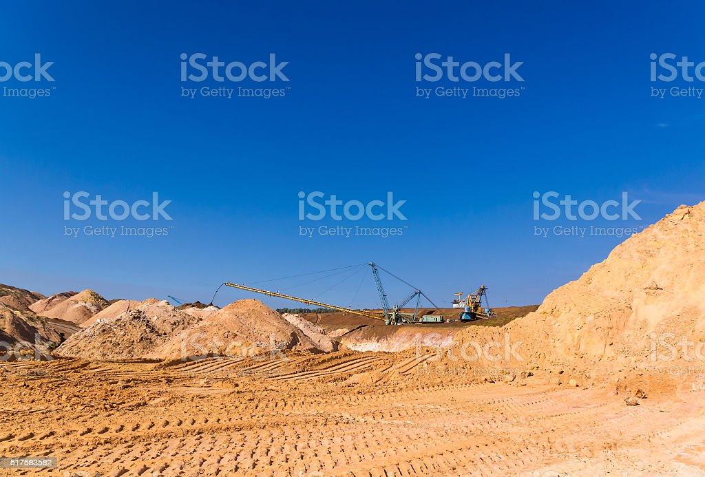 Quarry of clay stock photo