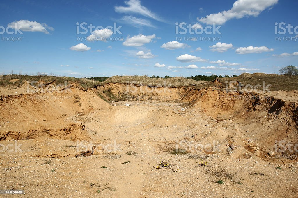 quarry of grit stock photo