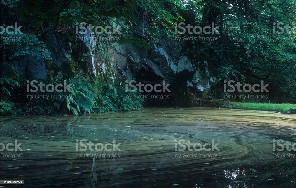 Quarry Pool Bodmin Moor stock photo