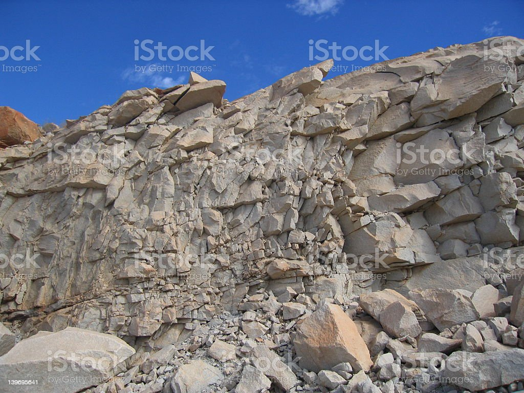 Quarry Rocks and Sky 001 royalty-free stock photo