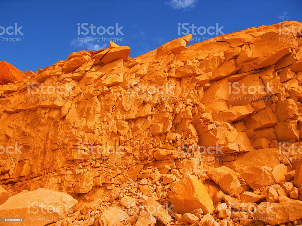 Quarry rocks and sky 001a royalty-free stock photo