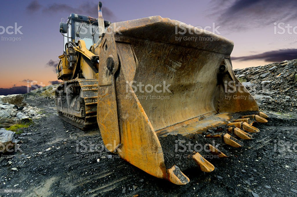 Quarry Shovel stock photo
