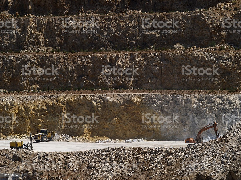 Quarry site royalty-free stock photo
