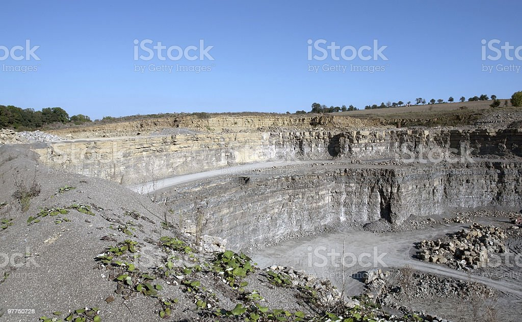 quarry wall scenery royalty-free stock photo