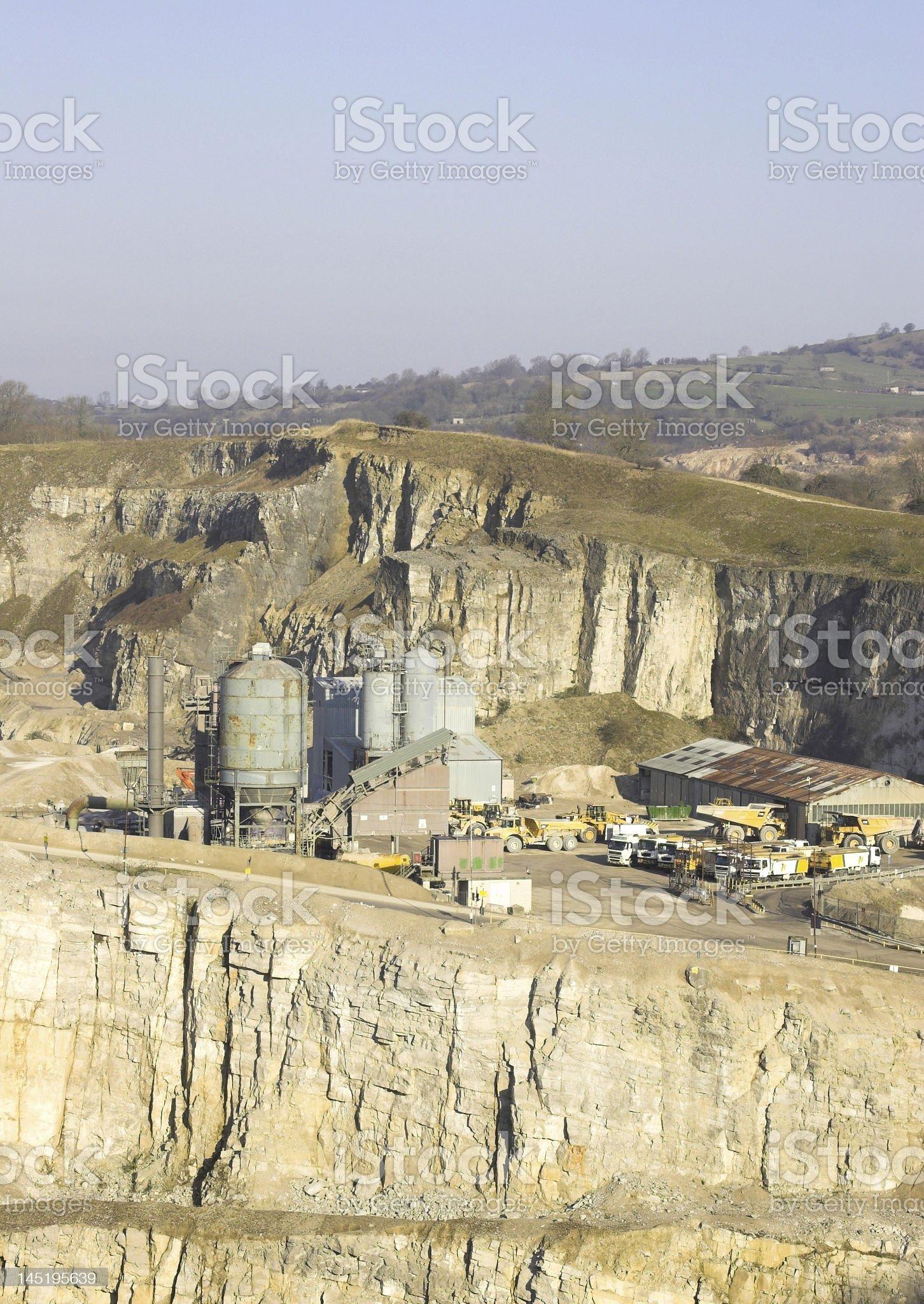 Quarrying, Derbyshire, England royalty-free stock photo