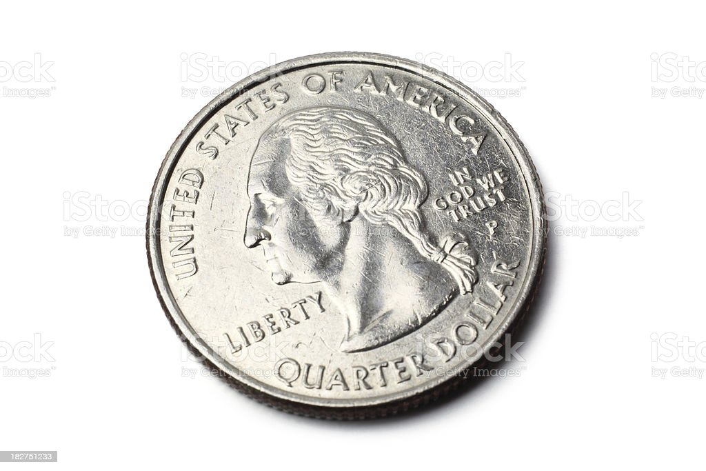 US Quarter Coin stock photo