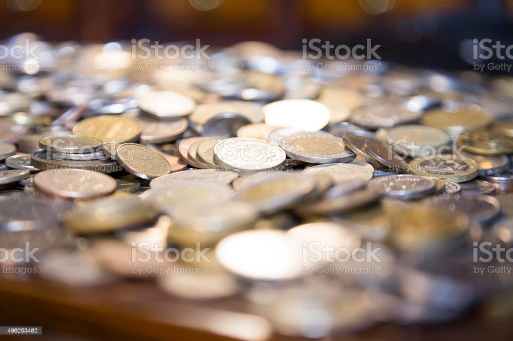 Quarter coin stock photo