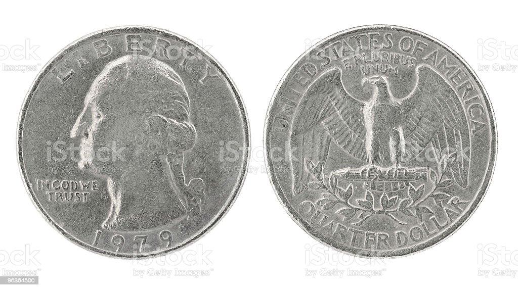 Quarter Dollar 1979 royalty-free stock photo