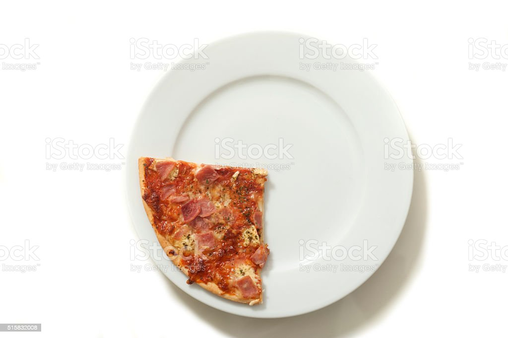 quarter of pizza stock photo