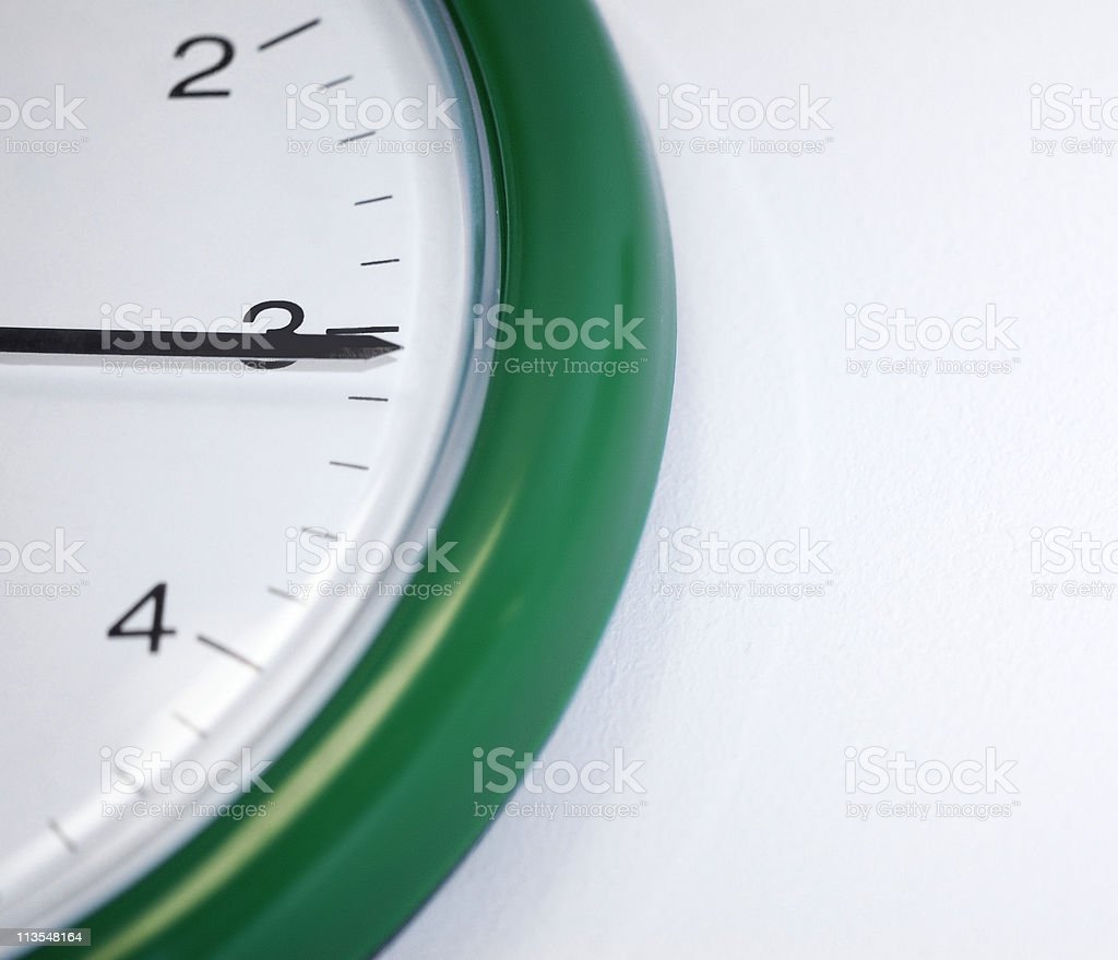 Quarter Past stock photo