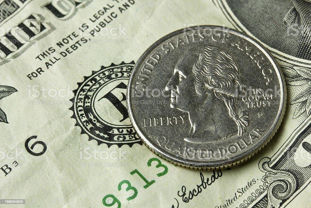 Quarter stock photo
