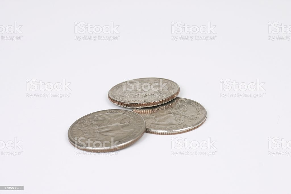 Quarter Trifecta royalty-free stock photo