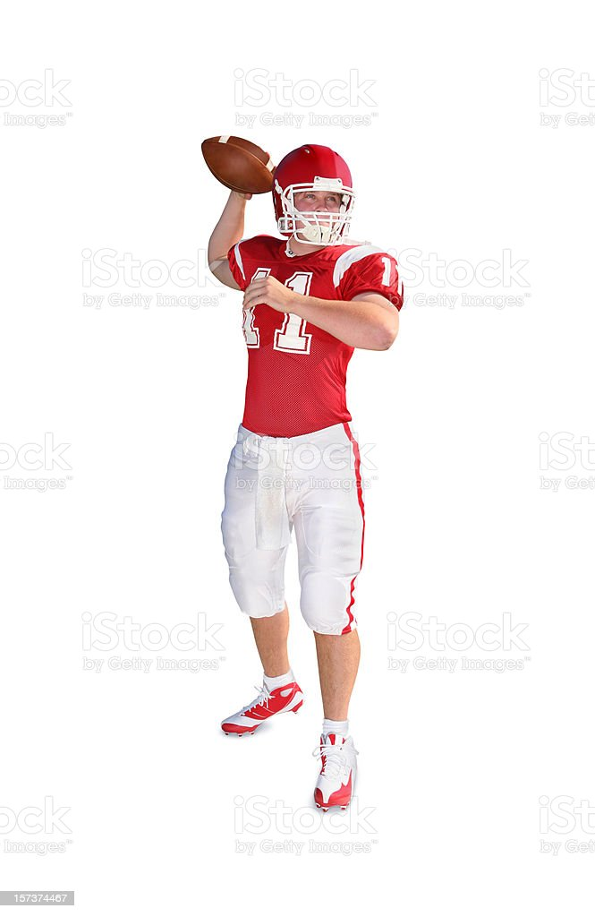 Quarterback with Clipping Path royalty-free stock photo