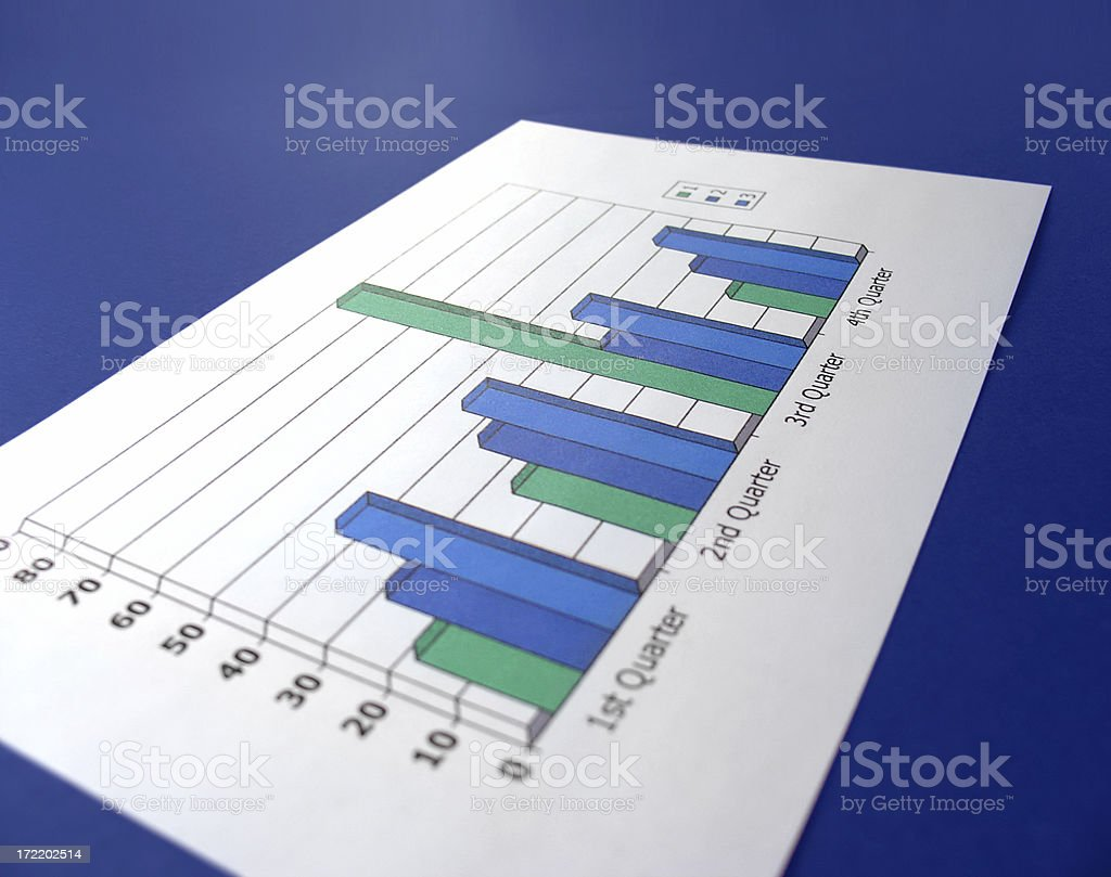 quarterly report royalty-free stock photo