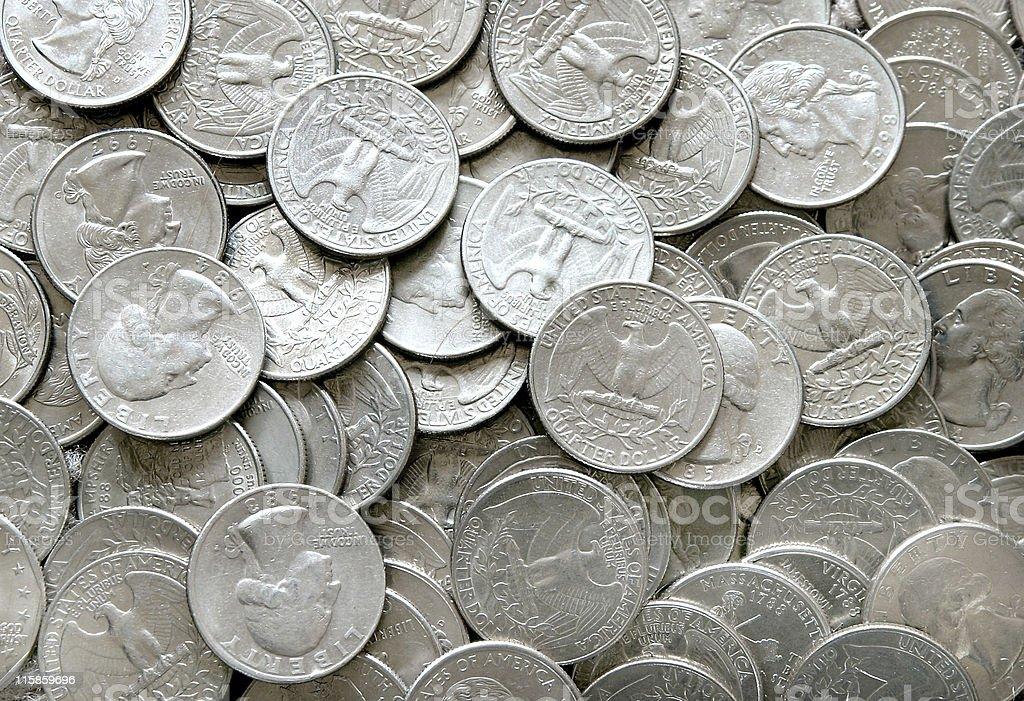 Quarters background stock photo