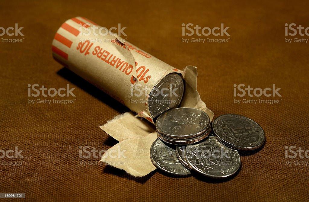 Quarters royalty-free stock photo
