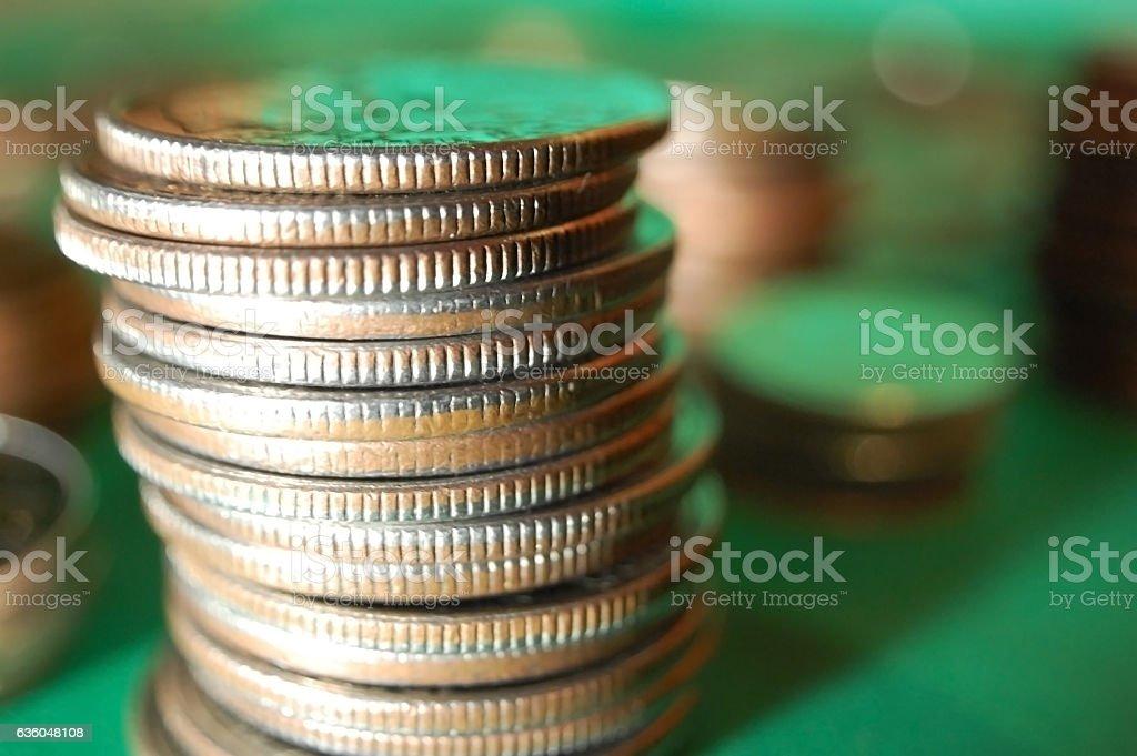 Quarters stock photo