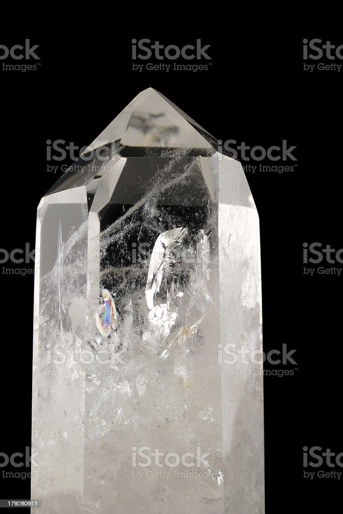 Quartz Crystal - black background stock photo