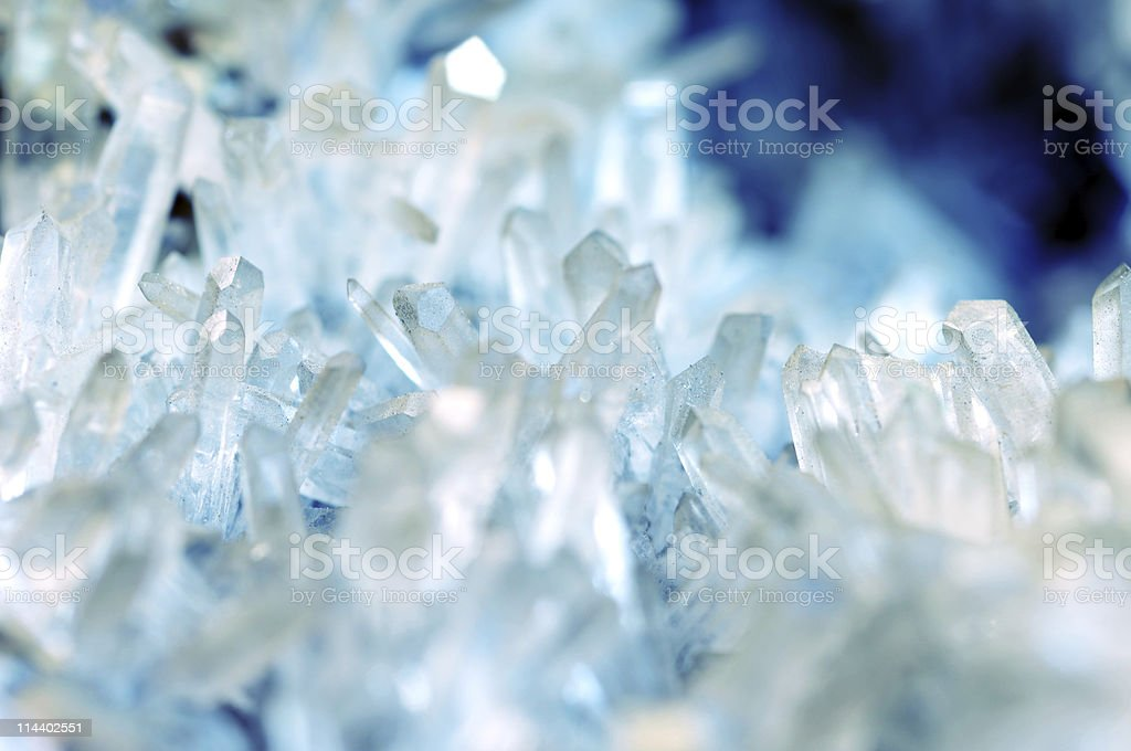 quartz crystal stock photo