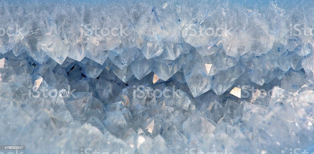 quartz crystals in blue agate royalty-free stock photo