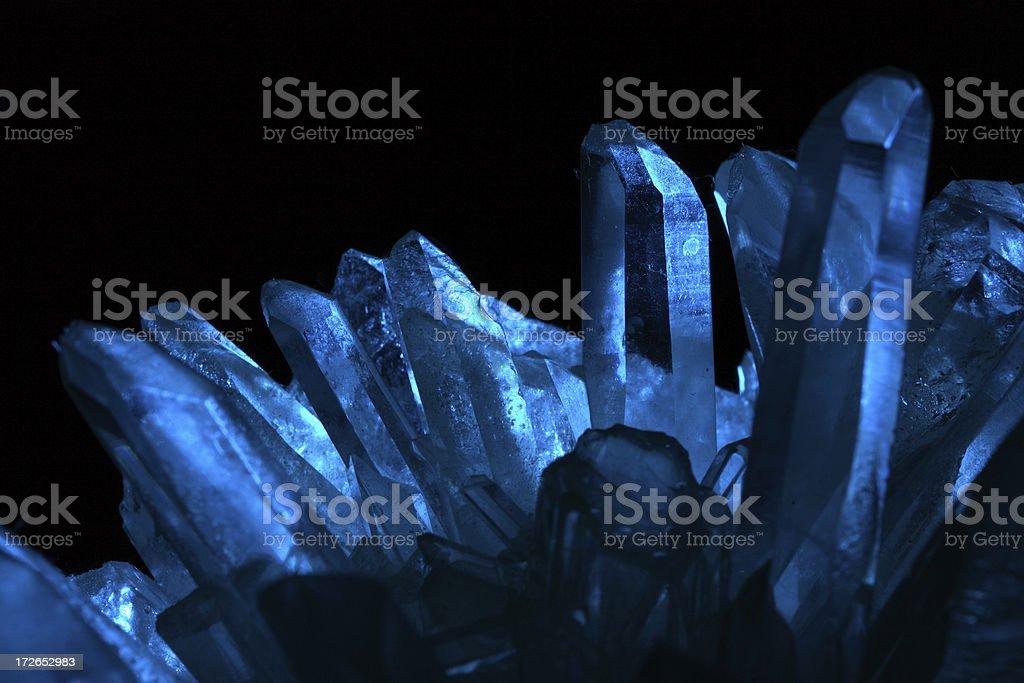 Quartz in Blue light royalty-free stock photo